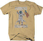 Finders Keepers Moon Landing Earth USA Flag T-Shirt