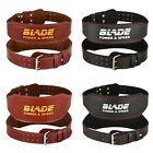 "Blade 4"" 6"" Gym Weight Lifting Belt Leather Training Fitness Power Back Support"