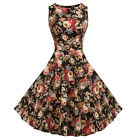 Damen Vintage 50er Jahre Rockabilly Party Petticoat Ballkleider Abendkleid