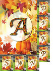 Monogram Fall Season Color Leaves Garden Banner Flag 11x14 Y