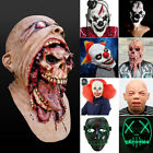 Bloody Zombie / Clown Scary Mask Melting Face Latex Costume