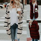 Womens Loose Baggy Cardigan Coat Chunky Knitted Oversized Sweaterer Tops