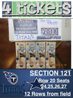 4 GREAT SEATS TENNESSEE TITANS vs DALLAS COWBOYS  MON NOV 5, 2018 - LOWER LEVEL on eBay