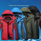 Winter Warm Unisex Soft Shell Jacket Hood Jackets Thermal Hiking&Ski Thick Coat