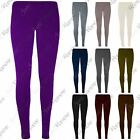 New Girls Kids Plain Full Length Slim Fit Skinny Stretchy Leggings Pants Trouser