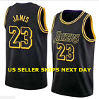 Los Angeles Lakers 23 LeBron James Black Basketball Jersey size M L XL