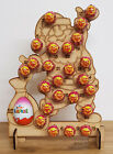WOODEN CHRISTMAS ADVENT CALENDAR FITS 24 CHUPA CHUPS LOLLYPOP'S AND 1 KINDER EGG