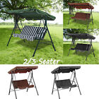 Garden Swing Chair Patio Hammock Canopy Lounger Bed 2/3 Seater Bench Seat UK