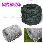 Barbed Wire Entanglement Wire Green Wire Roll 100/250/500 m Durable Barb Fence