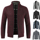 Men Casual Thicken Knitwear Jacket Zipper Coat Pullover Sweater Fashion Outwear