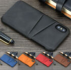 For Iphone Xr Xs Max X 7 8p Wallet Credit Card Slot Leather Skin Case Back Cover