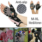 Work Out Gloves Weight Lifting Gym Wrist Wrap Sports Exercise Training Fitness 9