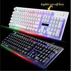 Wired USB Illuminated PC Ergonomic Gaming Keyboard LED and Wired Mouse Mice