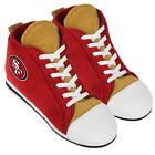 San Francisco 49ers High Top Sneaker SLIPPERS New - FREE U.S.A. SHIPPING