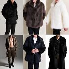 USA Mens Outdoor Winter Warm Faux Fur Jacket Shawl Male Warm Parka Coat Overcoat