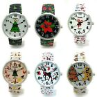 Ladies Novelty CHRISTMAS THEME Stretch Elastic Band Fashion Watch Versales VS1 image