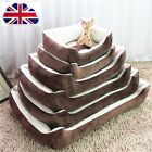 Brown Large Luxury Pet Bed Dog Puppy Cat Super Soft Warm Comfy Basket S/M/L/XL