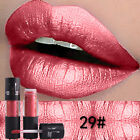 12 Colors Metal Luster Liquid Lipstick Women Charm Matte Lip Gloss Waterproof