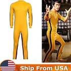 Bruce Lee Classic Game Of Death Costume Kung Fu Jumpsuit Vintage Yellow Uniform