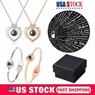 """Iced Out Gold Broken Heart Pendant 3mm 24"""" Stainless Steel Rope Chain Necklace"""