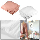 Mosquito Net Bed Canopy Protection Round Dome Pink/White For Baby Girl Room image