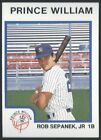 1987 ProCards Prince William Yankees Minor League Baseball card PICK your player