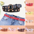 Leather Rivet Metal Round Buckle Waist Belt Women Boho Vintage Fashion Waistband