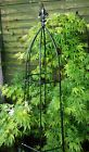 Solid Steel Gothic Obelisk Plant Support - Black - Two Sizes Available