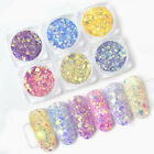 Sun Light UV Nail Art Changing Color Mix Size Glitter Powder Chameleon Flakes