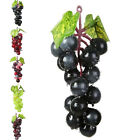 Simulated Plastic Fruit 18pcs Grapes Bunch String Wedding Home Garden Decor New