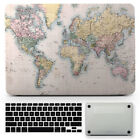 Dirty World Map Hard Rubberized Case Cover for Macbook Air Pro TouchBar 11-15