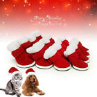 Santa Red Trendy Design Dog Cloth Shoes Snow Cozy Special for Pet Pretty