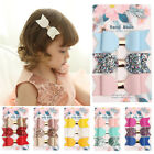 3x Girls Baby Faux Leather Mini Hair Bow Hair Clips Glitter Boutique Accessories