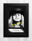 Ronnie Van Zant (3) A4 reproduction signed picture poster. Choice of frame.