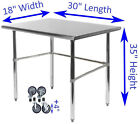 AmGood Stainless Steel Work Table w/ Open-Base | Kitchen Island | Laundry Garage
