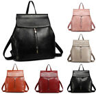 Oil Wax PU Leather Ladies Girls Large A4 Travel School Backpack College Bag
