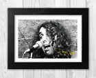 Tiny Tim A4 reproduction signed poster. Choice of frame.
