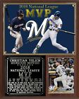 Christian Yelich #22 2018 NL MVP Photo Card Plaque