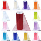 6 inches x 30 feet GLITTERED TULLE Ribbon ROLL Pattern Design DIY Crafts Favors