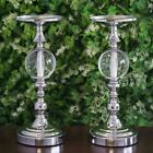 "13"" tall Metallic Candle Holders Risers with Acrylic Ball Centerpieces Wedding"