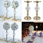 """13"""" tall Metallic Candle Holders Risers with Acrylic Ball Centerpieces Wedding"""