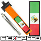 ORANGE MEXICO FLAG FRONT BUMPER REAR RACING STYLE TOW HOOK STRAP SCION on eBay