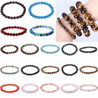 Men Women 8mm Natural Stone Round Gemstone Bead Handmade Bracelets Jewelry Gift