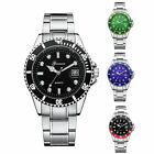 Men Military Stainless Steel Date Watch Sport Quartz Analog Wrist Watch  USPS image