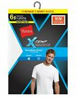 Hanes Men Undershirt 6-Pack FreshIQ X-Temp Crewneck Value Tag-free Wicking White <br/> Official Hanes Brands Store -- First Quality Authentic