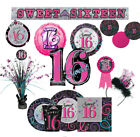 SWEET 16 Girl 16th Birthday Party Range-Tableware Balloons & Decorations Age epp