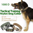L Size 1000D Nylon Military Tactical Dog Collar Training Leash with Metal Buckle