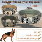 1000D Nylon Military Tactical Dog Collar Training Leash With Metal Buckle M Size