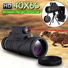 60X Zoom Optical HD Lens Monocular Telescope +Laser Light +Phone Holder + Tripod