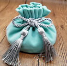 12*17 Cm Jewelery Velvet Pink/blue Pouch Bags With Tassel